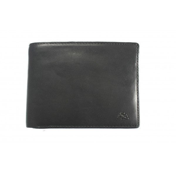 Tony Perotti Italian Vegetale Leather Wallet - TP2993G Black
