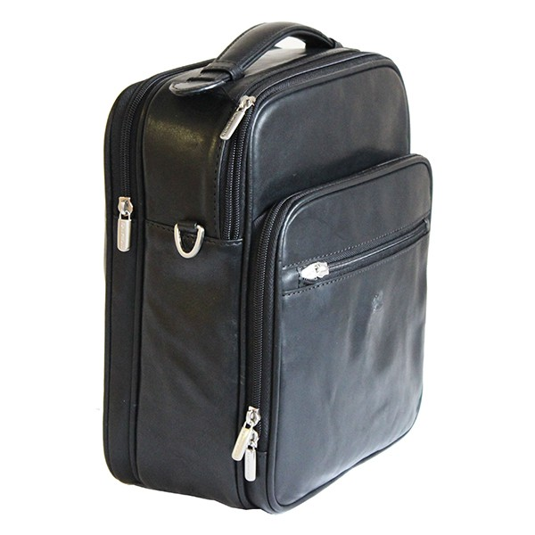 Tony Perotti Italian Vegetale Leather Flight Bag - TP7058 - Black