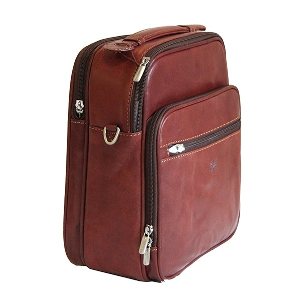 Tony Perotti Italian Vegetale Leather Flight Bag - TP7058 - Brown