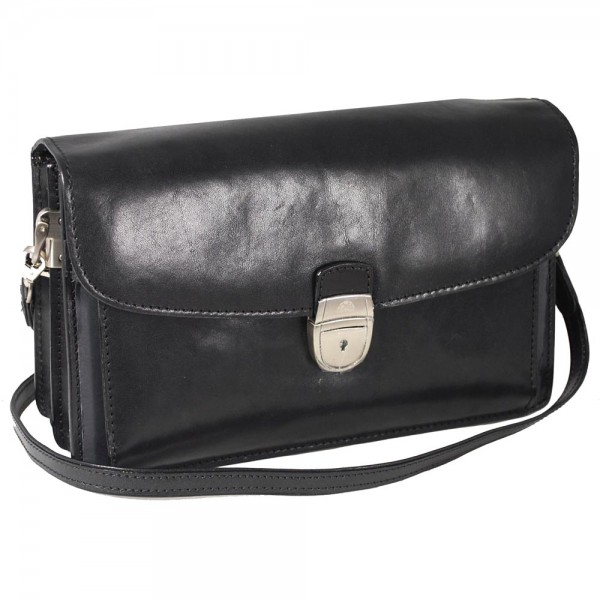 Tony Perotti Italian Versilia Leather Satchel - TP8000 Black
