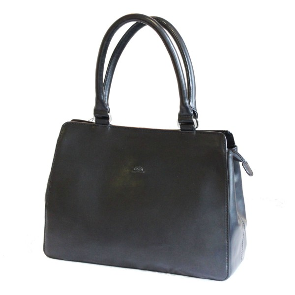 Tony Perotti Italian Vegetale Leather Handbag - TP8121 Black