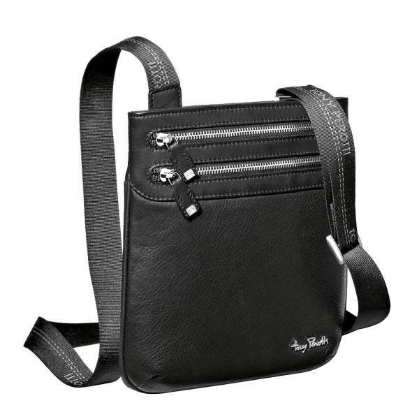 Tony Perotti Contatto Italian Soft Leather Small Messenger Bag - TP9066 Black