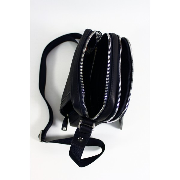 Tony Perotti Contatto Italian Soft Leather Messenger Bag - TP9148 Black