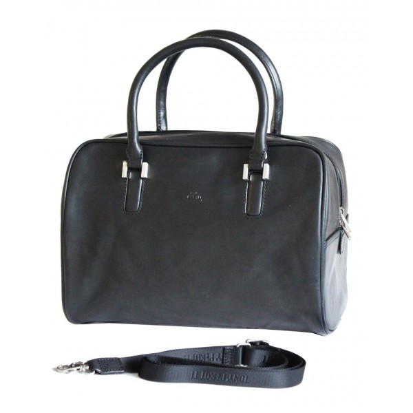Tony Perotti Italian Vegetale Leather Handbag - TP9656 Black