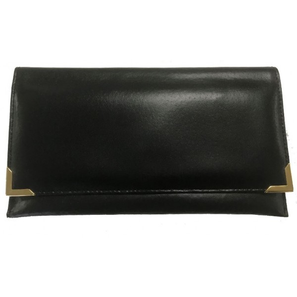 Falcon Leather Travel Wallet - FI4020 Black