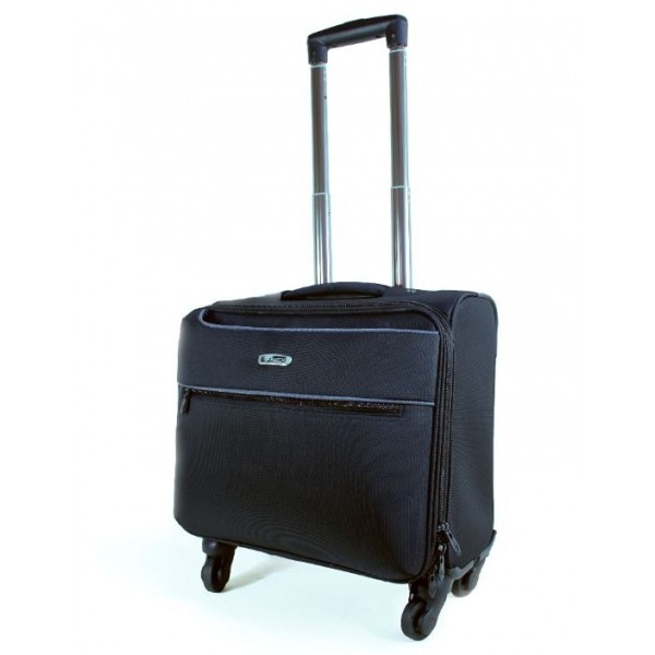 "Falcon 4 Wheeled 15.6"" Laptop/Tablet Business Trolley Case - FI2562T Black"