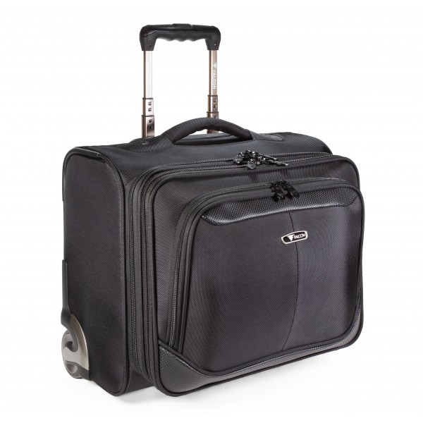 "Falcon 2 Wheeled Mobile 15.6"" Laptop Business Trolley Case - FI2567T Black"