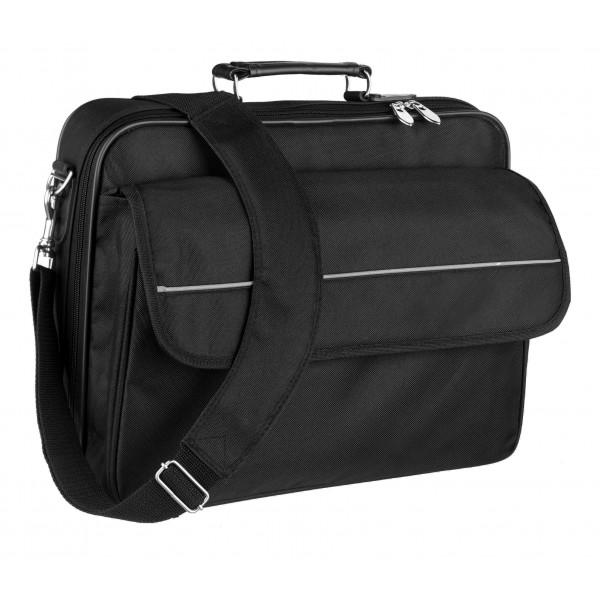 """Falcon 15.6"""" Laptop Briefcase - FI2575 Black"""