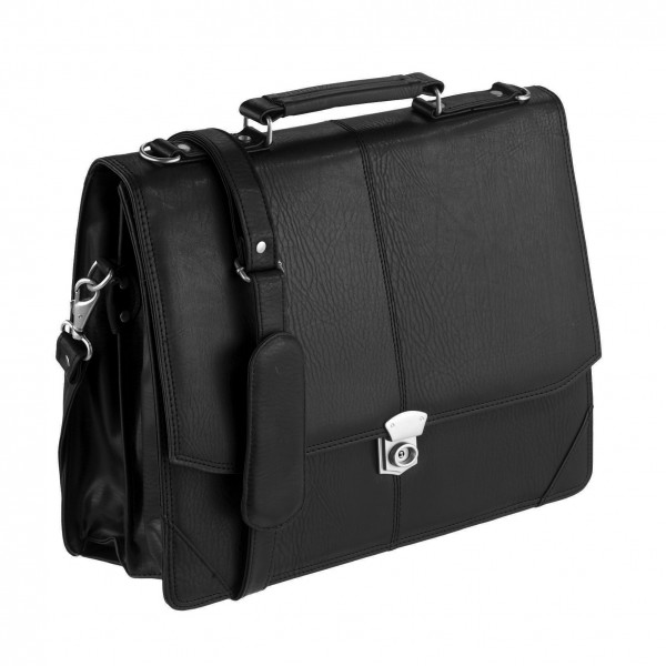 Falcon Faux Leather Executive Briefcase - FI2584 Black