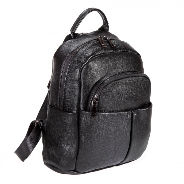 Falcon Leather Tablet Mini Backpack - FI6711 Black