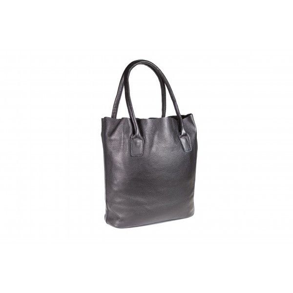 Falcon Leather Tablet Tote Bag - FI6713 Black