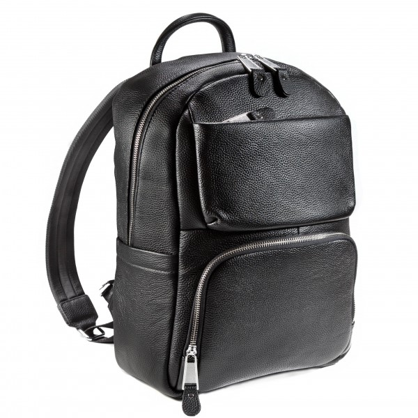Falcon Leather Tablet Backpack - FI6718 Black
