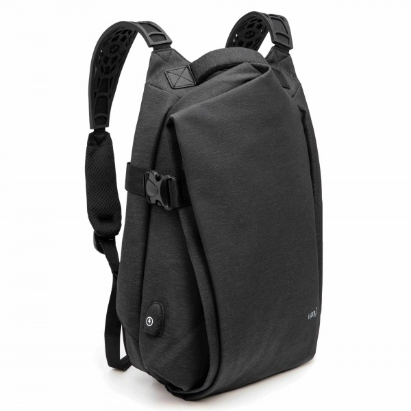 "i-stay 15.6"" Laptop & Tablet Expandable USB Backpack - Grey"
