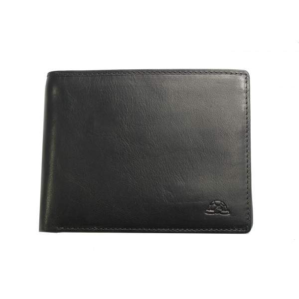 Tony Perotti Italian Contatto Soft Leather Wallet - TP0534 Black