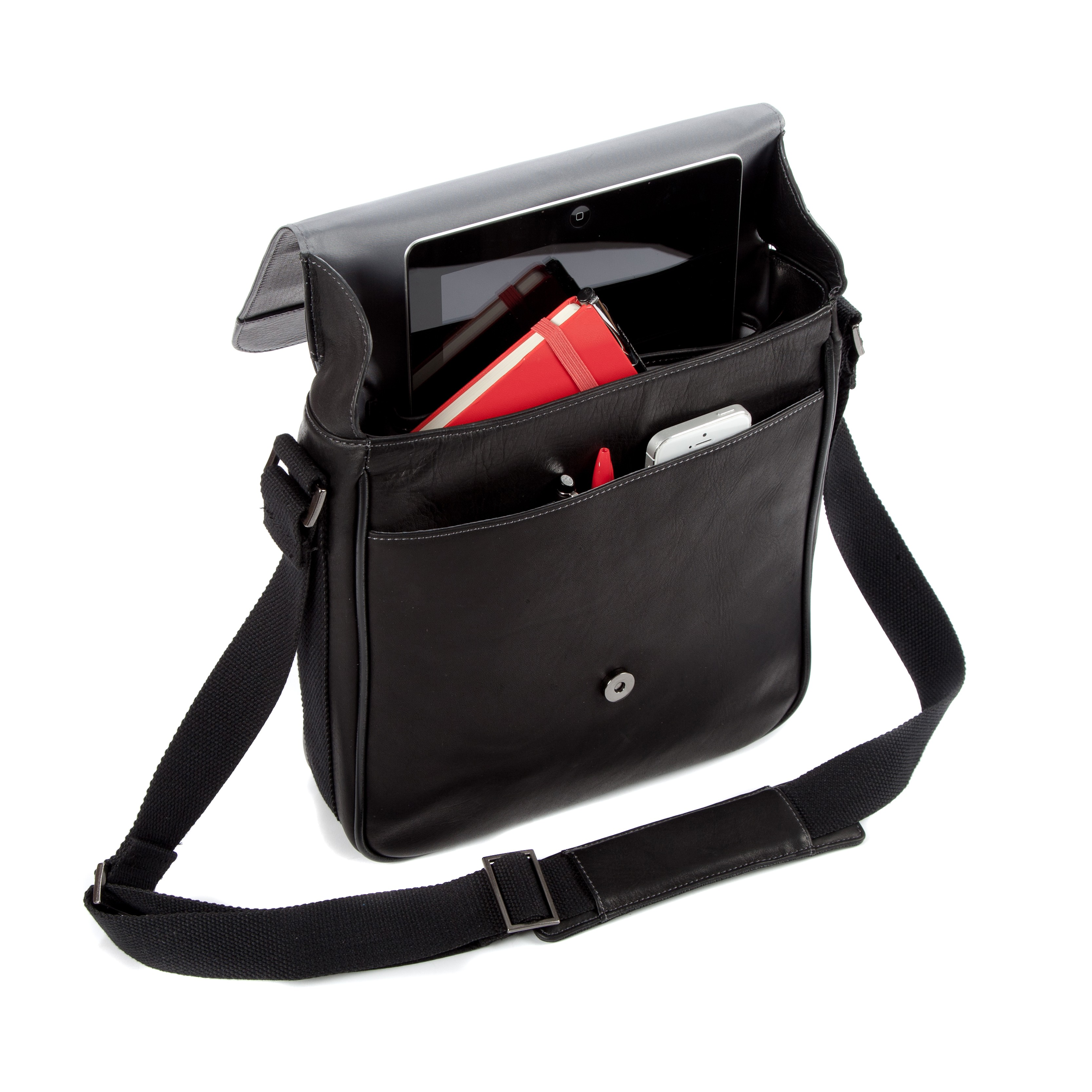 10 5 Falcon Colombian Leather Tablet Bag Fi6701 Black
