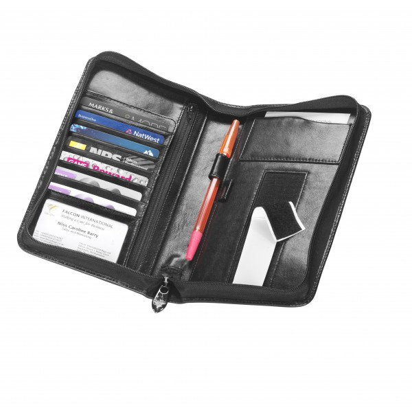 Falcon Leather Kindle/Passport Holder - FI3000 Black
