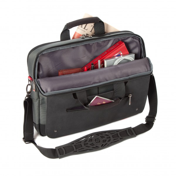 """i-stay 15.6"""" Laptop/Tablet Twin Handle Bag is0502 Black, Grey and Red"""
