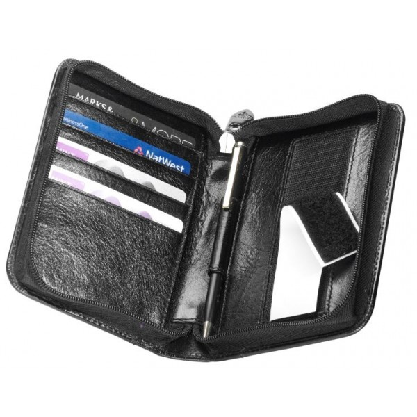 Falcon Leather Passport Holder - Medium - FI3001L Black