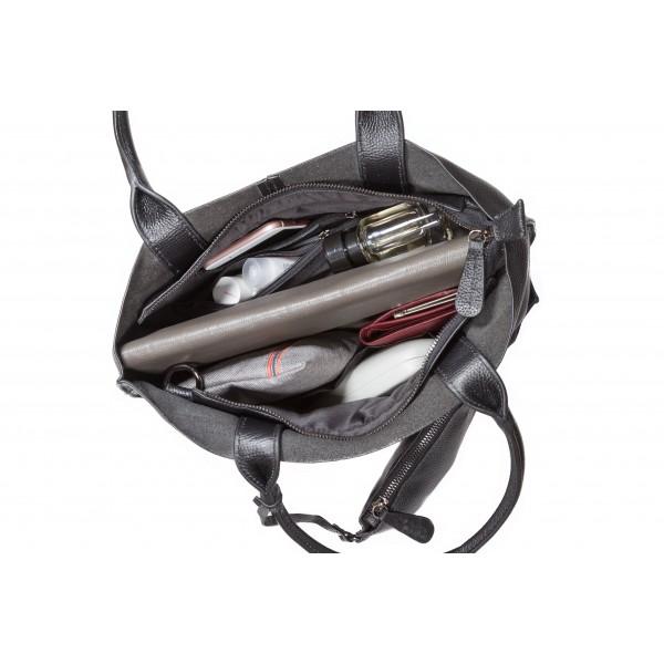 Falcon Leather Small Shoulder Bag - FI6712 Black