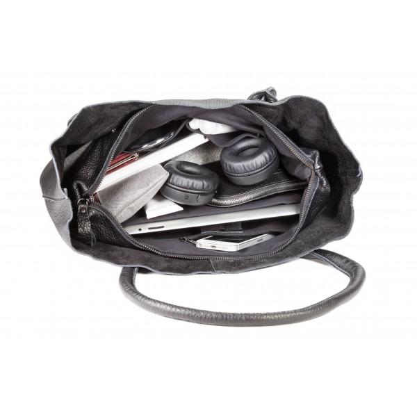 Falcon Leather Tablet Tote Bag - FI6713 Black