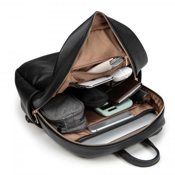 "i-stay 13.3"" Laptop & Tablet Backpack with Magnetic Clutch Bag - Black"