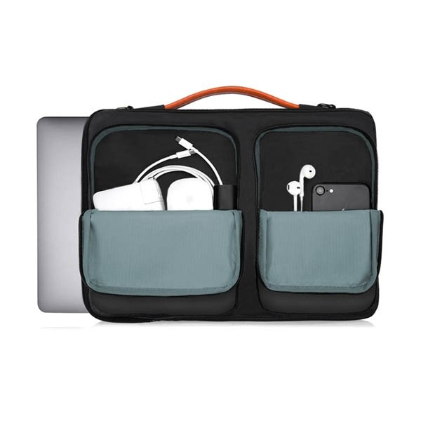 """i-stay 13.3"""" Laptop Sleeve is0801 Black and Grey"""