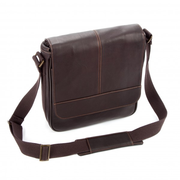 """10.5"""" Falcon Colombian Leather Tablet Bag - FI6702 Brown"""