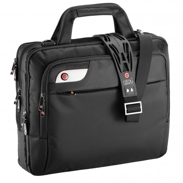 "i-stay 15.6"" Laptop Organiser Bag is0104 Black"