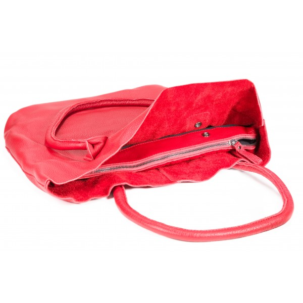 Falcon Leather Tablet Tote Bag - FI6714 Red