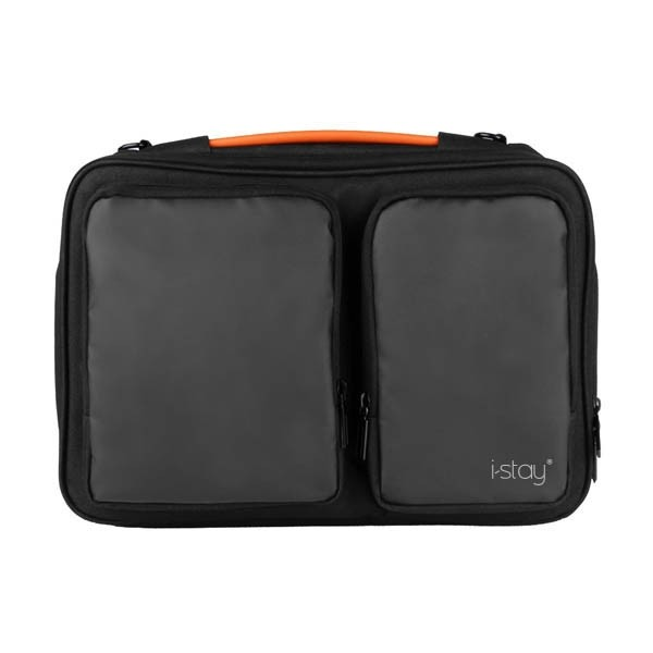 """i-stay 15.6"""" Laptop Sleeve - is0802 Black and Grey"""