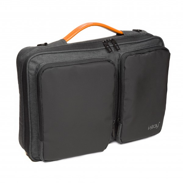 "i-stay 15.6"" Laptop Sleeve - is0802 Black and Grey"